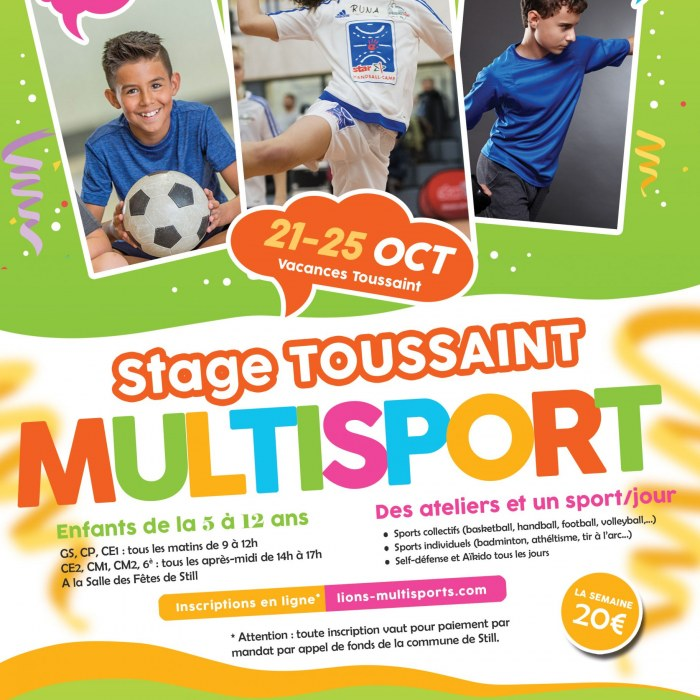 Stage Multisports Still Toussaint