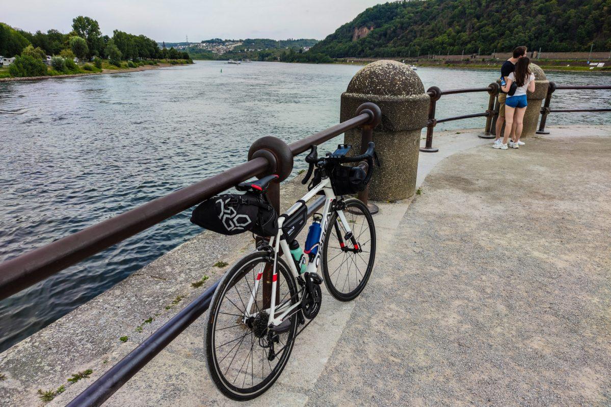 Moselle à vélo 44 Coblence Koblenz Deutsches Eck